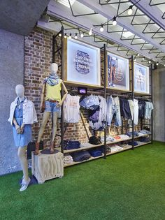 Levi's Customisation 'Festival' scheme - London May 2015 - produced and installed by Lucky Fox