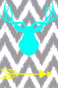Deer Head And Arrow Wallpaper