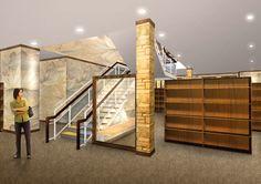 Adv. Interior Design Communication_Book Store_Front View