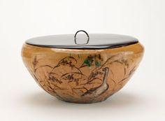 Japanese Art | Tea ceremony water jar, unknown Raku ware workshop | F1900.54a-c