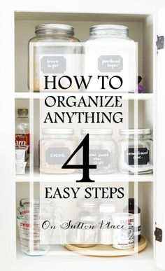 How to Organize Anything in 4 Easy Steps | Follow this simple procedure for organizing literally anything. Contains tips and advice for making the job easier with handy links to organizational products. (sponsored)