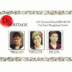 De Heritage - Experts in transformation of hair fashion. Call 6235 5188 for appointment or visit De Heritage at 545 Orchard Road B1-06/10 Far East Shopping Centre S(238882).