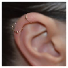 SMALL NOSE RING Ear Cartilage Helix Tragus hoop gold piercing. ($7.90) ❤ liked on Polyvore featuring jewelry, earrings, piercings, yellow gold jewelry, handcrafted jewellery, gold earrings, gold jewellery and hand crafted jewelry