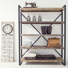 Industrie Bücherregal B 150 cm Metall Holz      Auswahl:  1 x Industrie…