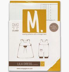 The Lila dress and jumpsuit paper pattern