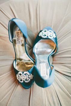 blue wedding shoes - Badgley Mischka