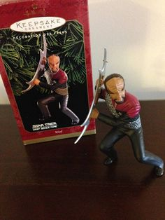 Star Trek Ornament Worf  Star Trek Ornament Christmas