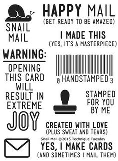 Snail Mail Stamp Set                                                                                                                                                     More