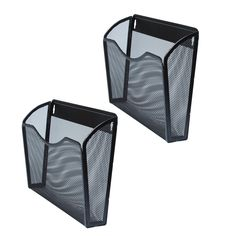 Wall File Folder Set of 2 – Wall Mounted Hanging File Folders – Perfect Organizer for Home or Office