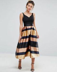 Платье в полоску с эффектом металлик Coast Red Carpet Ria