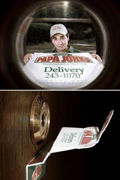 So funny lol fake pizza delivery I want this