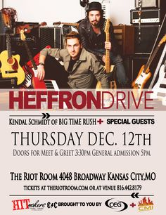 Heffron Drive tour information:) guess where I am going waited 4 years Love Of My Life, My Love, Kendall Schmidt, American Legions, Pensacola Fl, Winter Birthday, Big Time Rush, Live Casino, Special Guest
