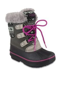 London Fog GrayPink Tottenham Short Cold Weather Boot - Girl Youth Sizes