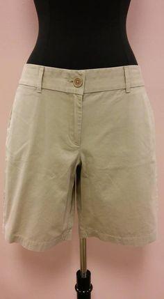 *NEW* Tan Khaki Chino Walking Short Flat Front Ann Taylor LOFT Size 12 NWT  #AnnTaylorLOFT #KhakiChino