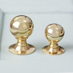 Polished Brass Ball Cabinet Knob
