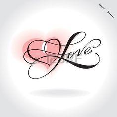 love hand lettering (vector)