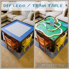 DIY Lego/ Train table