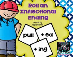First Grade and Flip Flops: Inflectional endings-- A quick center for you! Teaching Verbs, Student Teaching, Teaching Reading, Guided Reading, Teaching Ideas, Shared Reading, Reading Resources, School Resources, Learning