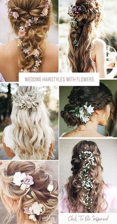 33 Unforgettable Wedding Hairstyles With Flowers ❤️ To emphasize tenderness, bride should choose wedding hairstyles with flowers. We have collected stunning hairstyle ideas for you. headband hairstyles wedding 33 Wedding Hairstyles With Flowers Boho Wedding Hair, Wedding Hair Down, Wedding Hair Flowers, Wedding Hair And Makeup, Flowers In Hair, Wedding Stuff, Hairstyle With Flowers, Wedding Shoes, Wedding Rings