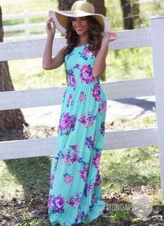 Blessings Maxi Dress in Sky Blue