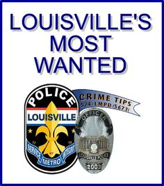 The idea for a Louisville's Most Wanted program was conceived by retired Detective Bill Burke. The program began as a cooperative effort between WDRB FOX-41 television station and the Louisville Metro Police Department. Photos of the following individuals will be shown at 9:00 P.M. ON WDRB FOX 41. If you have any information on any of the individuals listed please contact the anonymous LMPD Tip Line at 502-574-LMPD (5673) or Toll Free at 1-866-649-4479.