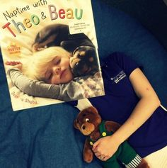 Naptime with Theo and Beau  I  BookFaces @ Calvert Library