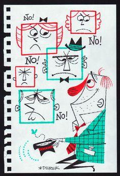 NO! NO! NO! Artista: Derek Yaniger Rotulador y tinta sobre hoja de cuaderno. Medidas: 25 X 17cm