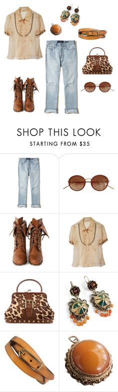 """""""Pre-Loved"""" by sproetje ❤ liked on Polyvore featuring Hollister Co., Linda Farrow, Wild Diva, Cacharel, Isabella Fiore, Sweet Romance, Hermès, sunglasses, boyfriendjeans and animalprint"""