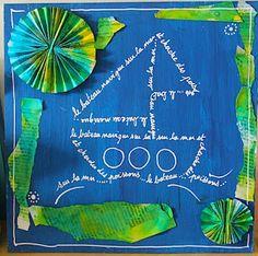 Les ateliers ARTiFun - ateliers créatifs en Guadeloupe - scrapbooking décopatch bricolage peinture: Calligrammes et fleurs en papier