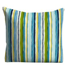 Blue Outdoor Pillows, Decorative Striped Outdoor Pillows,Patio Decor, Outdoor Throw Pillows, Patio Pillows, Pillow Covers
