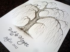 SMALL+Weeping+Willow+Wedding+Guest+Book+Tree+by+LastingKeepsakes,+$80.00