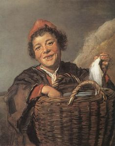 Page: Fisher Boy Artist: Frans Hals Start Date: 1630 Completion Style: Baroque Genre: portrait Dimensions: 72 x 36 cm Gallery: National Gallery of Ireland, Dublin, Ireland Tags: fish, children portraits Baroque Painting, Baroque Art, Johannes Vermeer, Rembrandt, National Gallery Of Ireland, Canvas Art Prints, Oil On Canvas, List Of Paintings, Dutch Golden Age