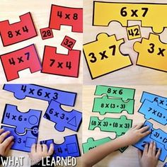 Learn how to help students understand difficult math concepts by using sentence frames and making vocabulary explicit. Shown here with fractions. Primary Maths Games, Math Activities, Number Puzzles, Maths Puzzles, Growth Mindset Activities, St Patrick's Day Crafts, Third Grade Math, Fractions, Multiplication