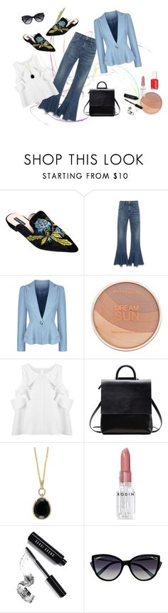 Kickin' My Shoes Off by cmrno on Polyvore featuring WithChic, Citizens of Humanity, Effy Jewelry, La Perla, Maybelline, Bobbi Brown Cosmetics and Rodin