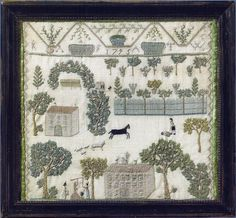 """Important Pennsylvania Sampler dated 1795 - Provenancy: Ralph Esmerian collection, Theodore Kapnek collection. Exhibited: """"The Flowering of American Folk Art,"""" Whitney Museum of Art."""