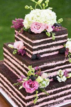 Hochzeitstorte ohne Fondant - 32 Ideen mit Deko für den neuen Trend