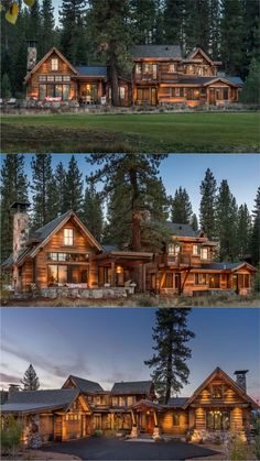 Architect's Dream - Lake Tahoe, CA By Mark Tanner Construction Dream Home Design, My Dream Home, House Design, Dream House Exterior, Dream House Plans, Log Cabin Homes, Cabins, Log Home Designs, Luxury Homes Dream Houses