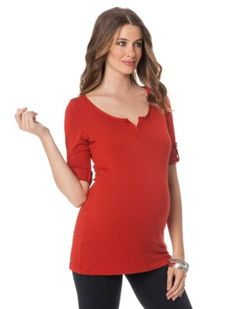 A Pea in the Pod: Inner Bliss 3/4 Sleeve French Terry Convertible Sleeve Maternity Pull Over $29.99
