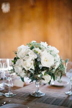 Pretty centerpiece: http://www.stylemepretty.com/south-carolina-weddings/charleston/2015/04/20/rustic-elegant-fall-wedding-at-boone-hall-plantation/ | Photography: Clay Austin - http://www.clayaustinphotography.com/