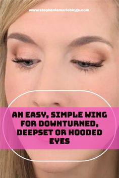 This eye makeup tutorial focuses on lining deep set, downturned or hooded eyes without using liquid eyeliner. Doing an everyday wing on these challenging eye types can be difficult. This will help you nail that wing with ease! Using shadow as liner is a softer look which is much more wearable for most of us on an everyday basis. I find this to be true especially as I get older. Eye Types, Types Of Eyes, How To Apply Eyeshadow, How To Apply Makeup, Amazon Beauty Products, Best Makeup Products, Makeup For Brown Eyed Girls, Makeup For Downturned Eyes, Makeup Tips