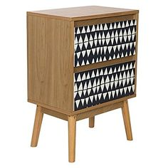 Let your bedroom manifest in playful style with the retro-inspired design of the Griffin Bedside Table from Casa Uno.