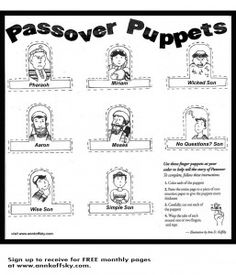 A coloring page/ craft that I illustrated for Passover.
