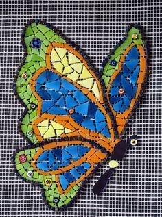 ideas about Mosaic Patterns Paper Mosaic, Mosaic Tile Art, Mosaic Artwork, Mosaic Crafts, Mosaic Projects, Mosaic Glass, Mosaic Ideas, Butterfly Mosaic, Butterfly Project