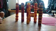 Bijenwas kaarsen, van onze knutselmiddag