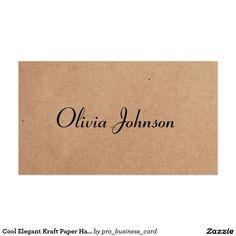 Cool Elegant Kraft Paper Handwriting Consultant