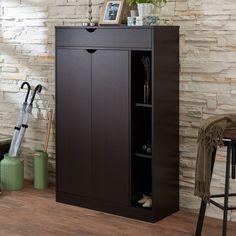 Brayden Studio® Modern 8-Pair Shoe Storage Cabinet