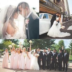 We are absolutely in awe from the pictures we received from Amber and Richard's very special day! Their ceremony was everything a bride could want and the celebration after was as fun as it gets! They have such an amazing love story and we are so glad we were able to be a small part of it! Amber wore a gorgeous fit and flare gown from Allure Bridals and her bridesmaids also had stunning dresses from B2 by Jasmine!