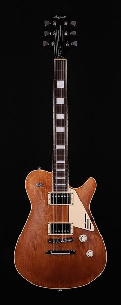 NC Electric Guitars Magneto Velvet Light Brown Oil Stain