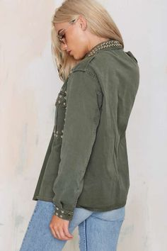After Party Vintage Smash It Up Army Jacket - After Party   Free Fall   Jackets   Jackets + Coats