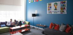 """Our """"World Cup Room"""" is a great place to hang out or have a causal meeting. LivePerson Offices 